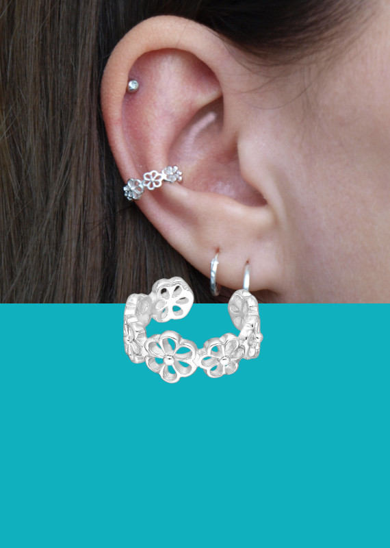 Banner ear cuff bloemen EIP01-01-00661 8720514750414 mobile