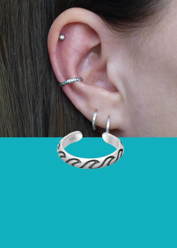 Banner ear cuff golven zee EIP01-01-00671 8720514750421 mobile