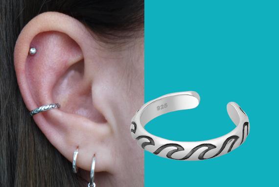 Banner ear cuff golven zee EIP01-01-00671 8720514750421