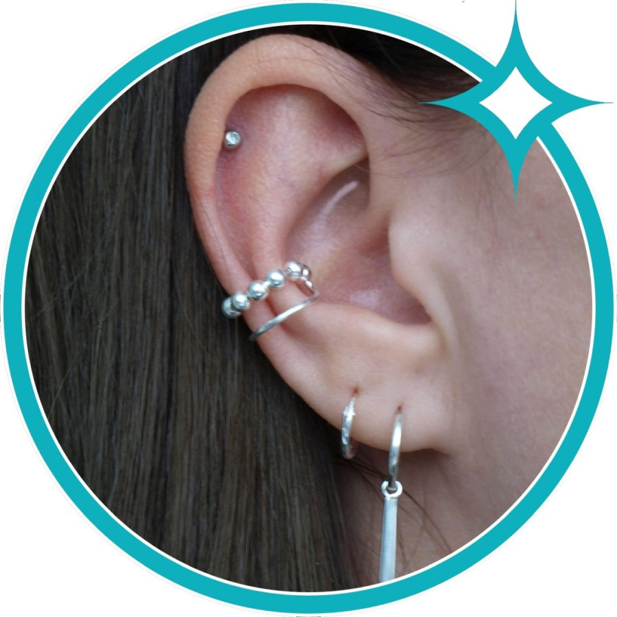 Ear cuff ballen zilver EIP01-01-00711 8720514750476 oor