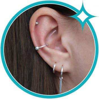 Ear cuff ballen zilver EIP01-01-00731 8720514750490 oor