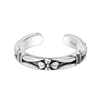 Ear cuff bloem zilver geoxideerd EIP01-01-00571 8720514750322