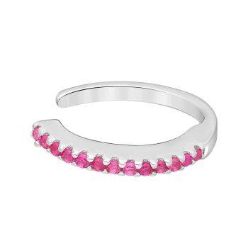 Ear cuff magenta zirkonia zilver gerhodineerd EIP01-01-00765 8720514750209