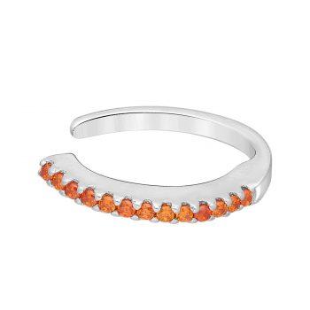 Ear cuff oranje zirkonia zilver gerhodineerd EIP01-01-00763 8720514750186