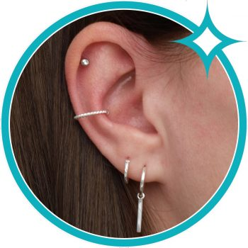 Ear cuff zilver gedraaid EIP01-01-00531 8720514750285 oor
