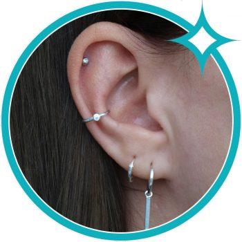 Ear cuff zirkonia zilver EIP01-01-00351 8720514750216 oor