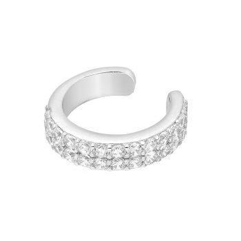 Ear cuff zirkonia zilver gerhodineerd EIP01-01-00321 8720514750032