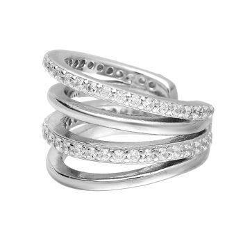 Ear cuff zirkonia zilver gerhodineerd EIP01-01-00361 8720514750056