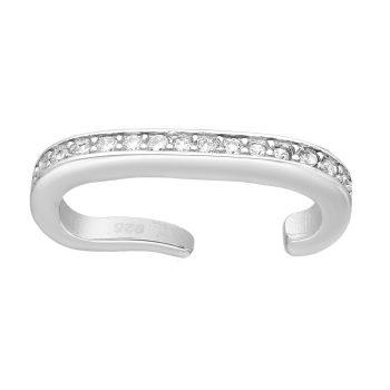 Ear cuff zirkonia zilver gerhodineerd EIP01-01-00421 8720514750117