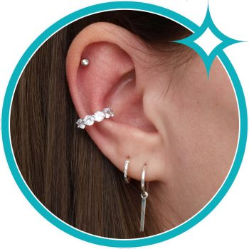 Ear cuff zirkonia zilver gerhodineerd EIP01-01-00431 8720514750124 oor