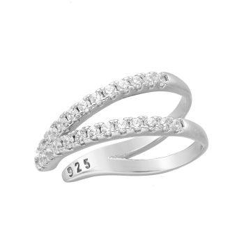 Ear cuff zirkonia zilver gerhodineerd EIP01-01-00441 8720514750131