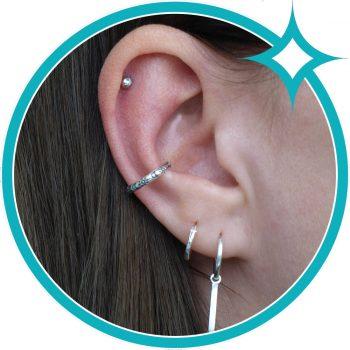 Ear cuff zon maan zilver geoxideerd EIP01-01-00541 8720514750292 oor