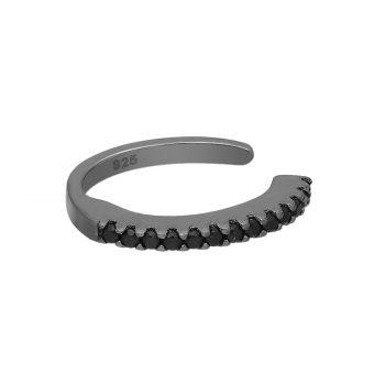 Ear cuff zwart zilver gerhodineerd EIP01-01-00341 8720514750049